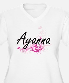 Ayanna Artistic Name Design with Plus Size T-Shirt