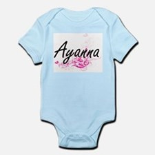 Ayanna Artistic Name Design with Flowers Body Suit
