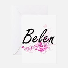 Belen Artistic Name Design with Flo Greeting Cards