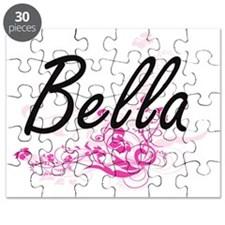 Bella Artistic Name Design with Flowers Puzzle
