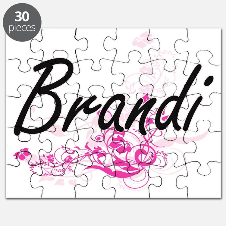 Brandi Artistic Name Design with Flowers Puzzle