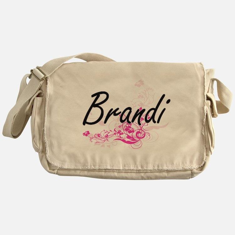 Brandi Artistic Name Design with Flo Messenger Bag