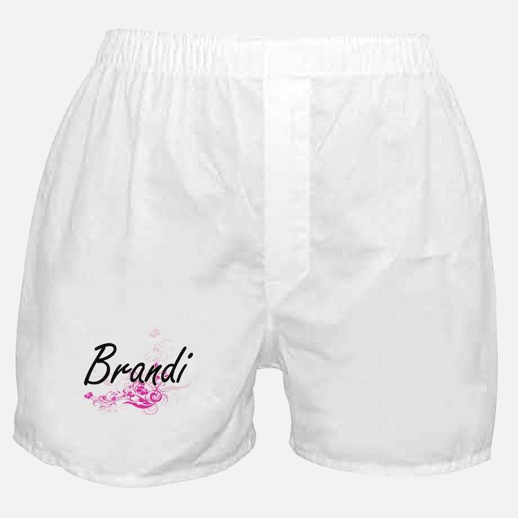 Brandi Artistic Name Design with Flow Boxer Shorts
