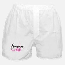 Breana Artistic Name Design with Flow Boxer Shorts