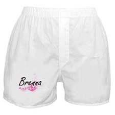 Brenna Artistic Name Design with Flow Boxer Shorts