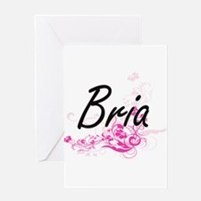 Bria Artistic Name Design with Flow Greeting Cards