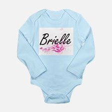 Brielle Artistic Name Design with Flower Body Suit