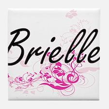 Brielle Artistic Name Design with Flo Tile Coaster