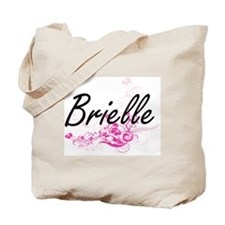 Brielle Artistic Name Design with Flowers Tote Bag