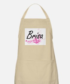 Brisa Artistic Name Design with Flowers Apron