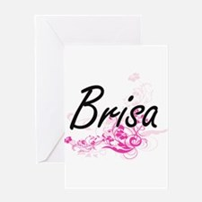 Brisa Artistic Name Design with Flo Greeting Cards