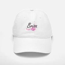 Brisa Artistic Name Design with Flowers Baseball Baseball Cap