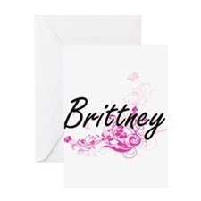 Brittney Artistic Name Design with Greeting Cards