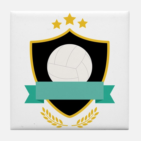 Volleyball Shield Tile Coaster