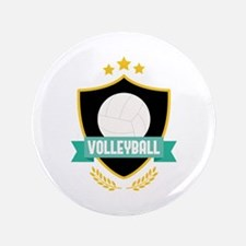 Volleyball Emblem Button