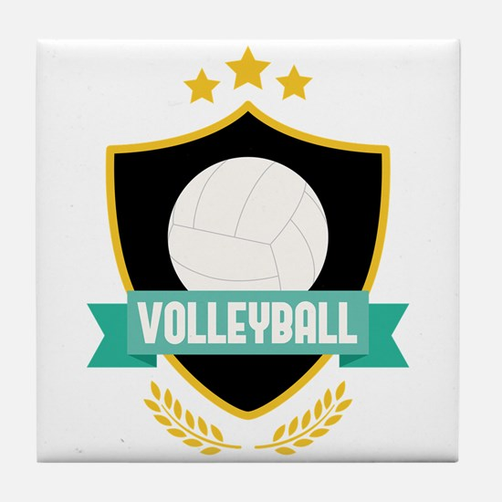 Volleyball Emblem Tile Coaster