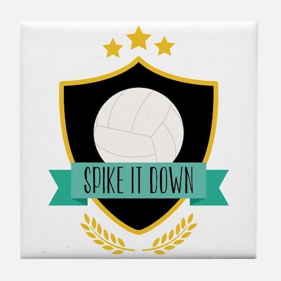 Spike It Down Tile Coaster