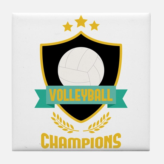 Volleyball Champions Tile Coaster