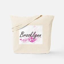 Brooklynn Artistic Name Design with Flowe Tote Bag
