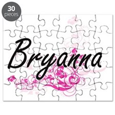 Bryanna Artistic Name Design with Flowers Puzzle