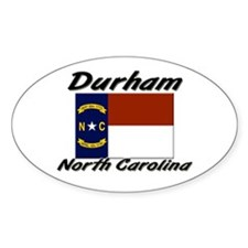 Durham North Carolina Oval Decal