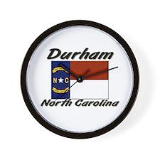 Durham North Carolina Wall Clock