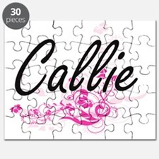 Callie Artistic Name Design with Flowers Puzzle