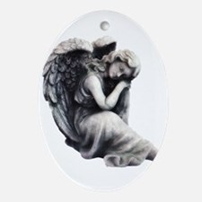 Resting Angel Oval Ornament