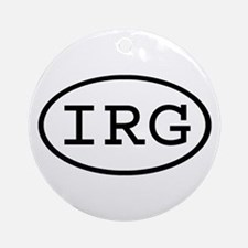 IRG Oval Ornament (Round)