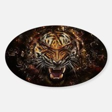 TIger on fire Decal