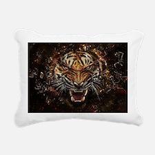 TIger on fire Rectangular Canvas Pillow