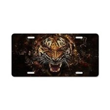 TIger on fire Aluminum License Plate