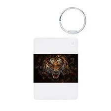 TIger on fire Keychains