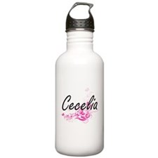 Cecelia Artistic Name Water Bottle