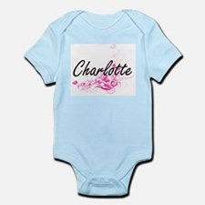 Charlotte Artistic Name Design with Flow Body Suit