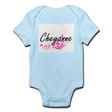 Cheyanne Artistic Name Design with Flowe Body Suit
