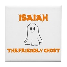 Isaiah the Friendly Ghost Tile Coaster