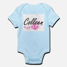Colleen Artistic Name Design with Flower Body Suit