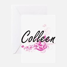 Colleen Artistic Name Design with F Greeting Cards
