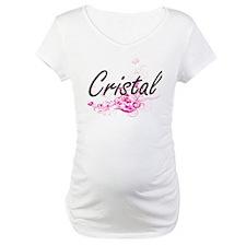 Cristal Artistic Name Design wit Shirt