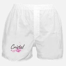 Cristal Artistic Name Design with Flo Boxer Shorts