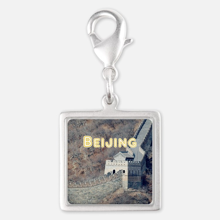 Beijing Silver Square Charm