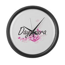 Dayanara Artistic Name Design wit Large Wall Clock