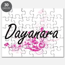 Dayanara Artistic Name Design with Flowers Puzzle
