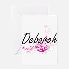 Deborah Artistic Name Design with F Greeting Cards