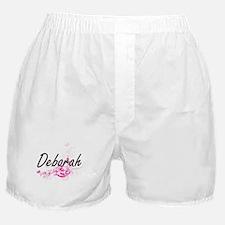 Deborah Artistic Name Design with Flo Boxer Shorts