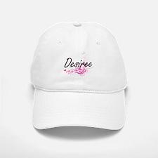 Desiree Artistic Name Design with Flowers Baseball Baseball Cap