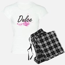 Dulce Artistic Name Design Pajamas