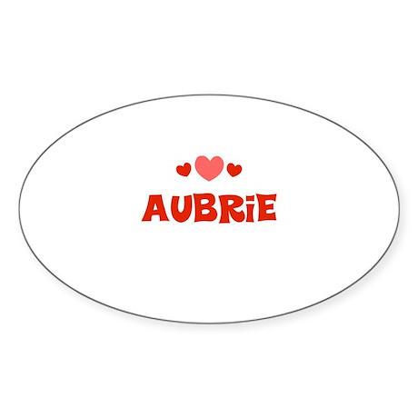 Aubrie Oval Sticker