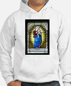 Madonna and Child Stained Glass Hoodie